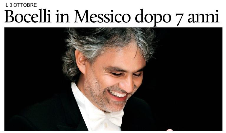 Puntodincontro Mx Cultura Andrea Bocelli Cantera In Messico