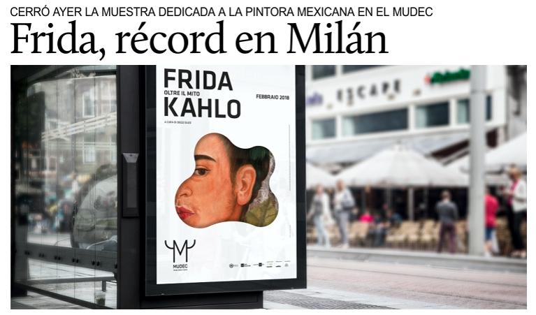 Récord de visitantes para la exposición de Frida Kahlo en Milán