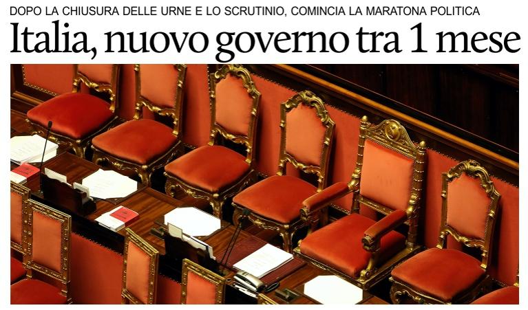 Calendario Elezioni.Italia Il Calendario Politico Dopo Le Elezioni